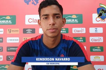 Declaraciones de Kenderson Navarro / CSD Municipal