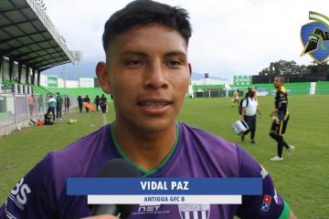 "Paz: ""Logré anotar mi primer gol después de tanto tiempo""."